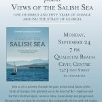"""2018-08-25   """"Salish Sea"""",  poster for book event,  Sept 24"""